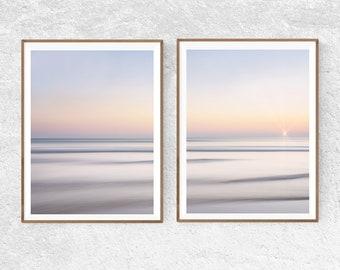 Ocean Print Set of 2 Nautical Decor Large Wall Art Prints Ocean Photography Beach Print Coastal Printable Art Sunset Digital Prints Download