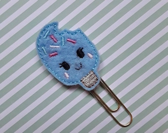Ice Lolly. Planner Feltie Clip.  Paperclip.  Felt Clip. Planner Gifts.  Stationery.