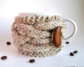 Coffee Cozy, Hygge Decor, Knit Cup Cozy, Tea Cozy, Coffee Mug Cozy, Coffee Cup Cozy, Coffee Cup Sleeve Knit Coffee Sleeve Best Selling Items