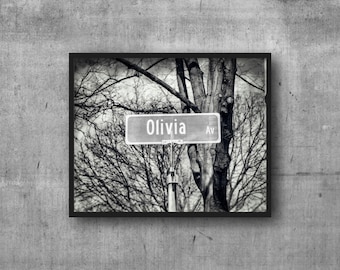 OLIVIA - Olivia Ave Street Sign - Name Sign - Photography Art Print
