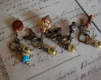 "Steampunk ""Knit"" Stitch Markers"