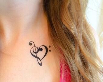 2 Music Lover Temporary Tattoos- SmashTat