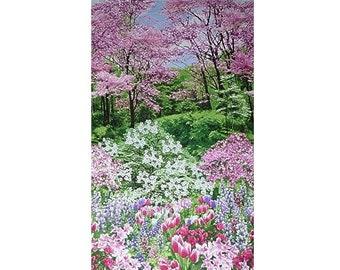 Botanic Garden 23In Fabric Panel Timeless Treasures Spring Nature Walk C2759