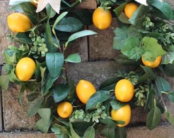 Yellow Lemon wreath ,  Lemon Wreath ,Yellow wreath,  boxwood wreath ,Lemon wreath