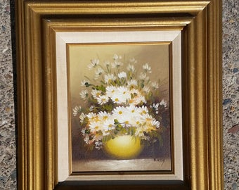 """Framed Painting on Canvas - signed """"Rossy"""""""