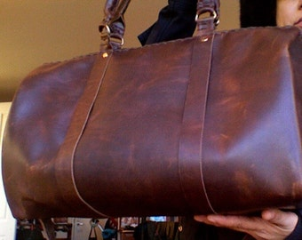Leather duffle bag, Travel duffle, Leather carry on, Brown duffle, Travel gift ideas, Leather weekend bag, Best gifts for travelers