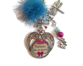 "Bag charm, door keys/MOM / ""MOM she is awesome"" / thank you gift, mother of the day/birthday/Christmas"
