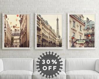 Paris Art Prints, Paris Photography,  Set of 3 Prints, Fine Art Prints, Paris Prints Set, Travel, Wall Art Prints, Paris Decor, Eiffel Tower
