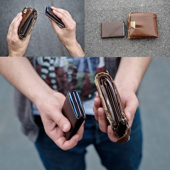 Minimalist wallet, Personalized Leather Wallet, Mens Wallet, Slim Wallet, Womens Wallet, Slim Leather Wallet, RFID Blocking Wallet