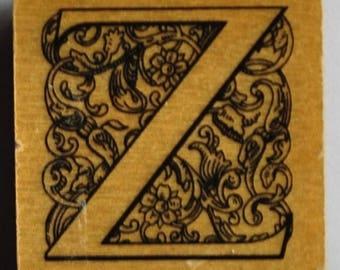Stamp-wood - Alphabet - letter Z