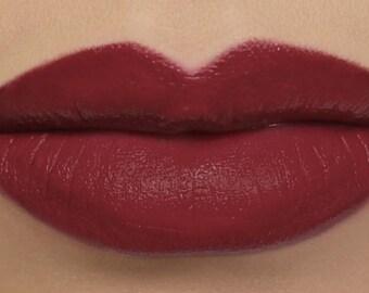 """Matte Lipstick - """"Spellbound"""" deep red wine vegan lipstick with natural organic ingredients"""
