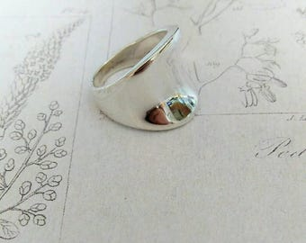 Sterling silver saddle ring