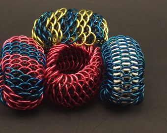 Aluminum/Rubber Dragon Scale Bracelet