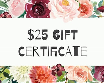 GIFT CERTIFICATE | Use for Custom or Bridal Orders