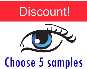 Custom samples - You choose 5 of your favorite colors - Mineral eye shadow - Natural makeup