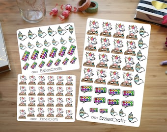 Cute Unicorn Crafting planner stickers (CR01 CR02 CR03)