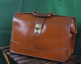 Glorious old English leather briefcase