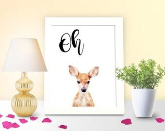 Oh Deer Digital Art Printable