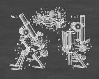 1895 Microscope Patent - Patent Print, Wall Decor, Microscope Decor, Vintage Microscope , Old Microscope, Science Decor