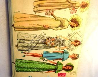 Vintage 1960s Simplicity 8144 Wedding dress formal bridesmaids dress in 2 lengths sewing pattern