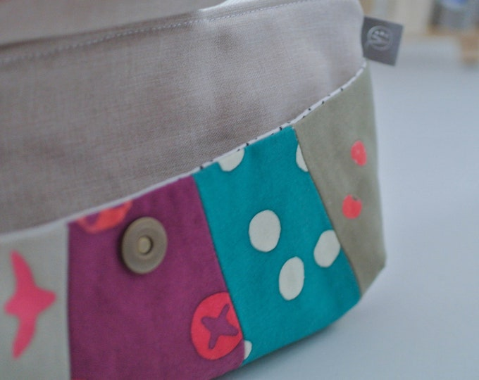 Featured listing image: Zippered Clutch | Evening bag | zipper pouch | Travel Bag | Cosmetic Bag | Makeup Bag | Overnight Tote | Rainbow Clutch | Small Purse | Tote