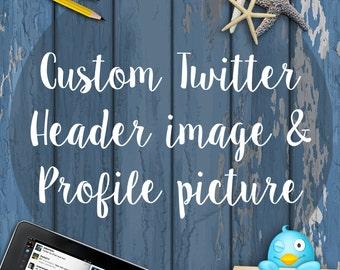Custom Twitter Header And Profile Photo - Custom Twitter Set - Custom Twitter Business Set -  Custom Twitter Starter Kit