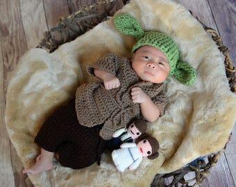 Star Wars/Crochet yoda/Yoda/Baby Shower Gift/ Halloween/ Disney/ Cake Smash/ Photography Prop