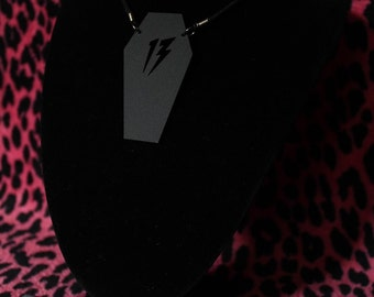 Acrylic coffin 13 necklace