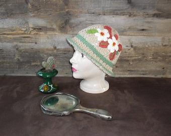 Vintage adult hat, cotton.