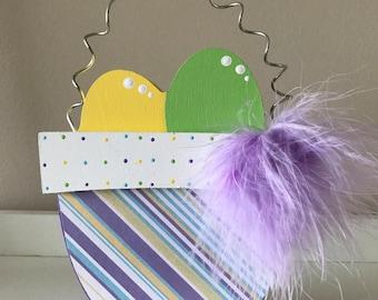 Wooden Easter Basket Decoration