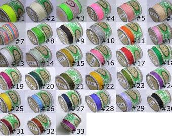 Cord Thread Nylon Knot Beading Macrame, 48 COLORS, 1mm, 136 Yards Spool