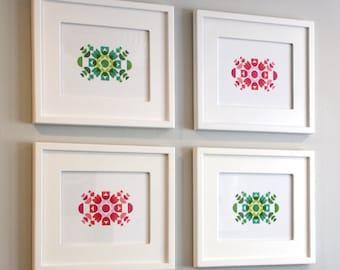 Letterpress Kaleidoscope Print