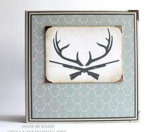 Hunting Scrapbook, Hunting Photo Album, Premade Hunting Photo Book, Hunting Scrapbook Album, Hunting Memories, Album for Him,  Hunter Gift