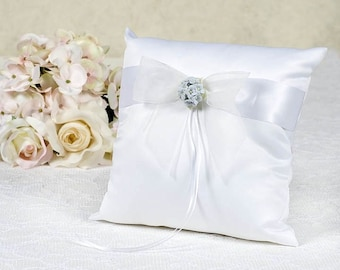 Hydrangea Wedding Ring Bearer Pillow - 75725H