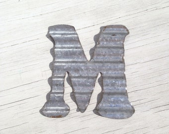 Corrugated Metal Wall Letters, Home Decor, Initial, Rustic, Wedding Decor, Bedroom, Alphabet, Christmas Ornaments