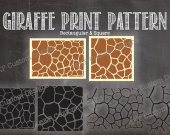 Giraffe Animal Print Pattern Cut File SVG Personal Use Only