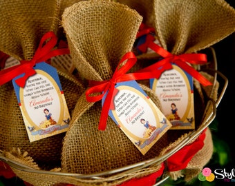 Snow White Favor Gift Tags