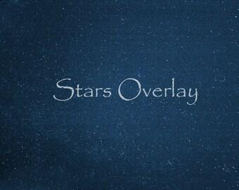 Star Overlay, Set of 3 Real Star Overlays, Star Texture