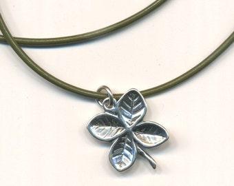 4 Leaf Clover Sterling Silver Pendant Necklane