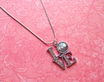 LOVE Photo pendant with Twinkle CZ accent
