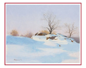 landscape paintings, winter landscape, original oil painting, wall art painting,  painting for office, original artwork, painting, landscape
