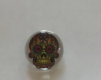 Snap 1.8 cm Mexican skull