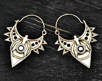 Silver Tribal Earrings, Indian Earrings, Boho Earrings, Ethnic Earrings, Silver Earrings, Hippie Earrings, Tribal Jewelry, Indian Jewellery