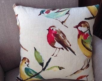 50cm Cushion Cover in Birdwatcher Meadow by Richloom
