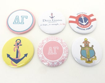 Delta Gamma Pocket Mirrors and Magnets