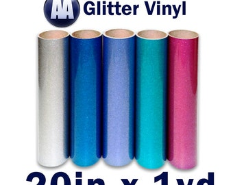 "Prisma Heat Transfer Glitter Vinyl for T-shirts 20"" x Yard"