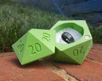 D20 Ring Box *ALL 20s* 3D Printed Wedding Ring Box