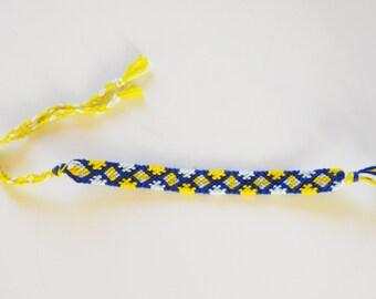 Friendship bracelet puzzle pattern