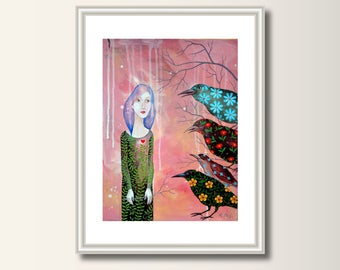 Picture, art print, print of original acrylic painting , A4 (297 x 210mm), (11.7 x 8.3 in)