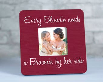 Blondie Brownie Best Friend Frames, Blondie and Brownie Gifts, Best Friends Frames, Blonde and Brunette Frame, BFF Gifts for Valentine's Day